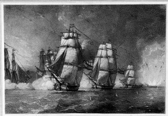 1-Ilustración-de-la-explosión-de-la-fragata-Nuestra-Señora-de-las-Mercedes-1804
