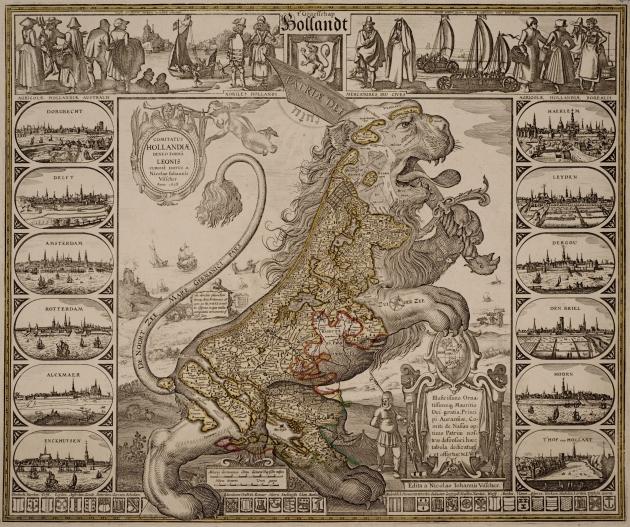 Comitatus Hollandiæ denuo forma Leonis
