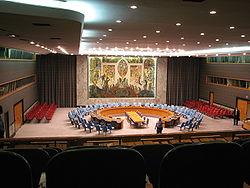 Interior de la cámara del Consejo de Seguridad.