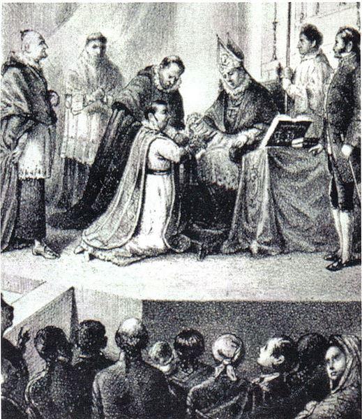 El tribunal del Santo Oficio, la Inquisición, juzgó a Morelos y le secularizó.