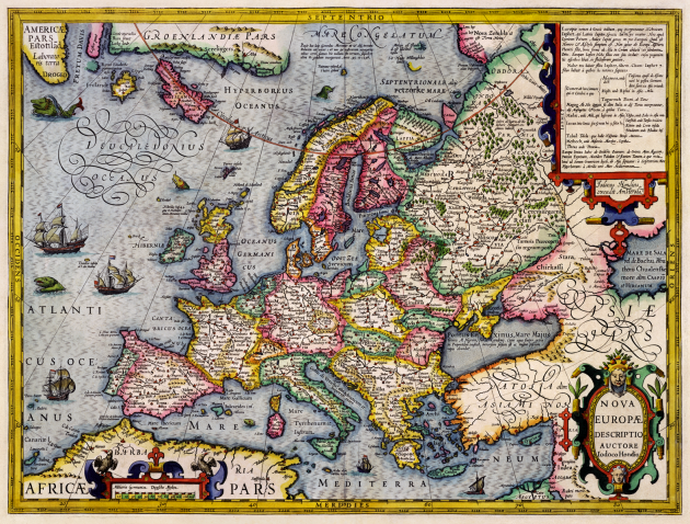 Antique-Map-of- Europe 1596