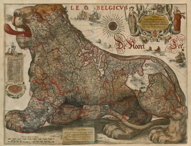 Antique_map_of_Leo_Belgicus_by_Visscher_C.J._-_Gerritsz_1630