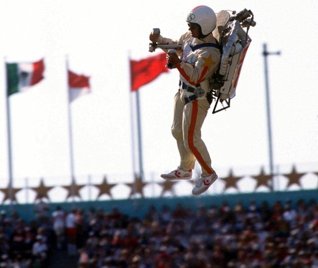 1984 Olympic Games, Los Angeles, Opening Ceremony, Space-age arrival for Bill Scooter