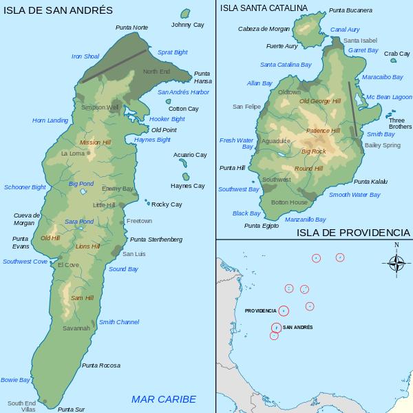 Islas del Archipiélago de San Andrés, Providencia y Santa Catalina