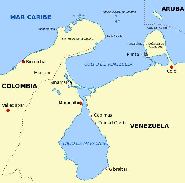 Maracaibo y Gibraltar en Venezuela