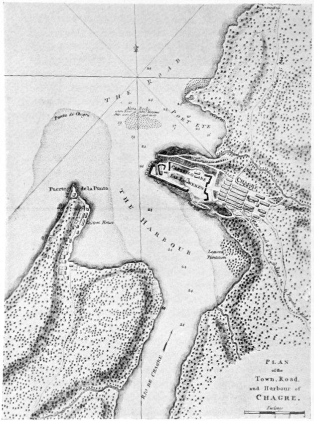 Ubicación del castillo de Chagres según el libro On the Spanish Main de John Masefield