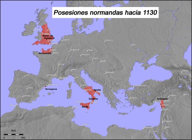 Normans_possessions_12century_es
