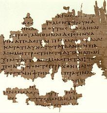 Papiro Oxyrhynchus, con fragmento de La República.